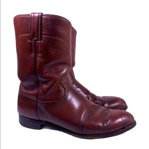 Justin Leather Cowboy Western Boots